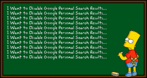 Disable Google Personal Search
