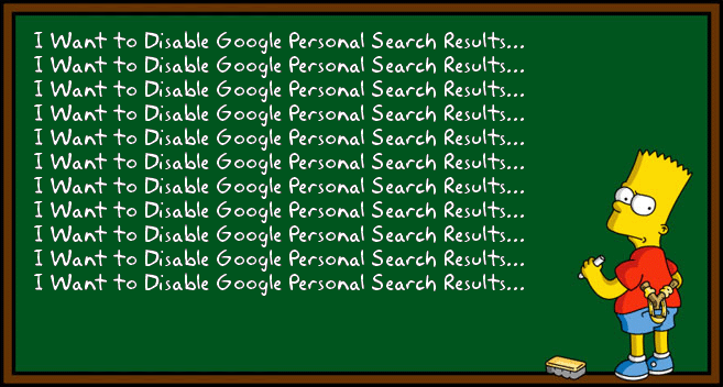 How to Disable Google Personal Search Results